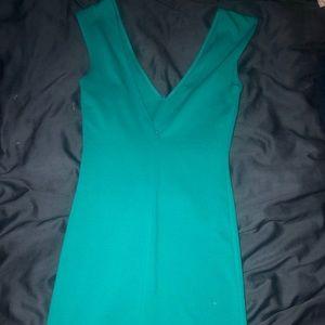Mini turquoise dress
